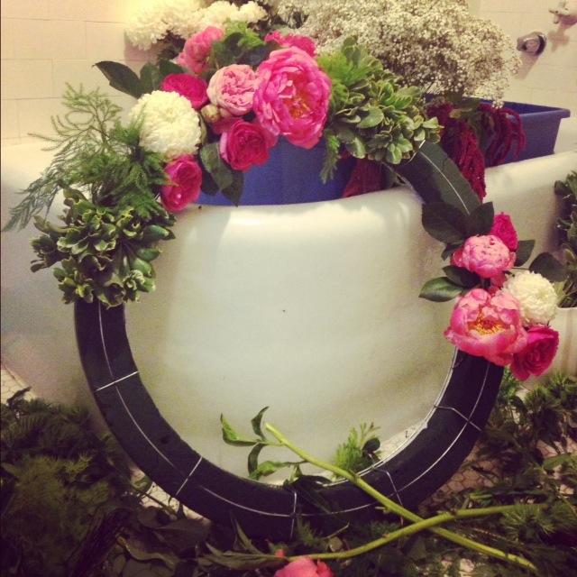 flower-wreath-process
