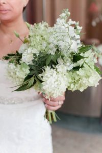 Locally Grown Limelight Hydrangea accents this just picked garden bouquet - from PeonyHotline.com