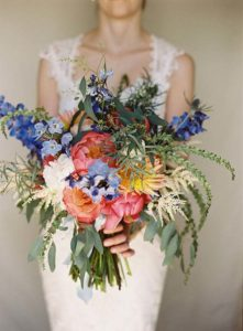 Coral Charm Wedding Bouquet for November Brides