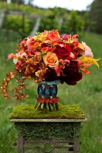 Thanksgiving Bouquet with Red Charm Peonies from Chile