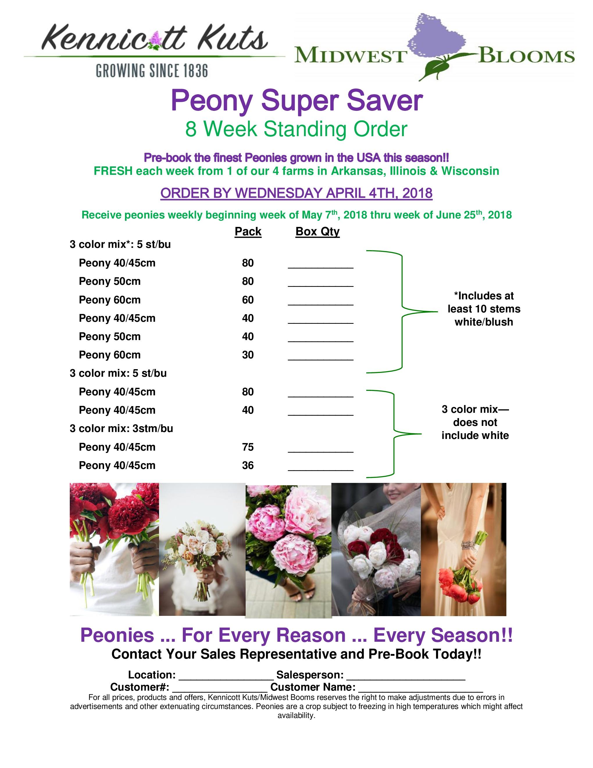 8 week peony super saver